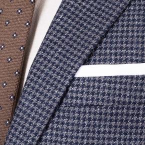 Navy & Grey Wool-Silk Sport Coat - thumbnail image 2