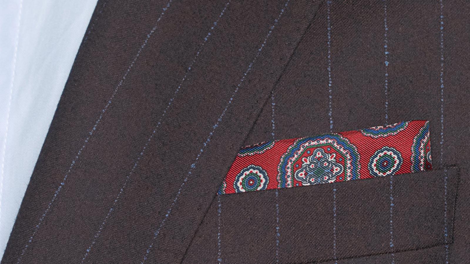 Blue Stripe Brown Suit - slider image 1