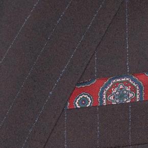 Blue Stripe Brown Suit - thumbnail image 1