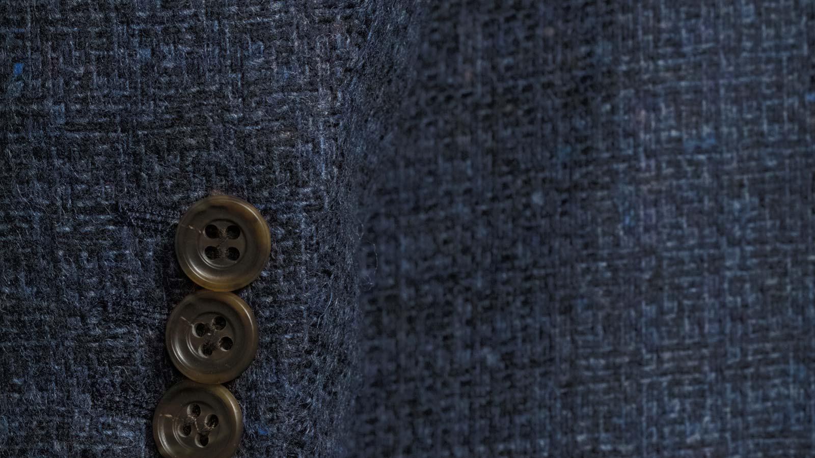 Navy Fine Check Tweed Blazer - slider image 1