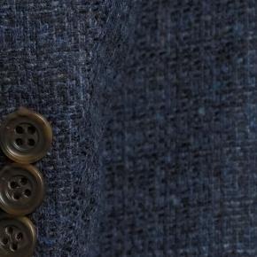 Navy Fine Check Tweed Blazer - thumbnail image 1