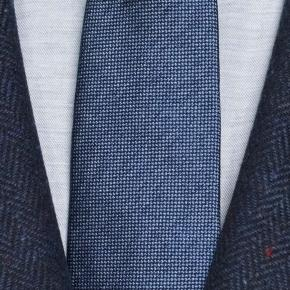 Navy Donegal Herringbone Tweed Blazer - thumbnail image 1