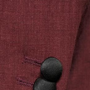 Intense Ruby Red Linen Tuxedo - thumbnail image 2
