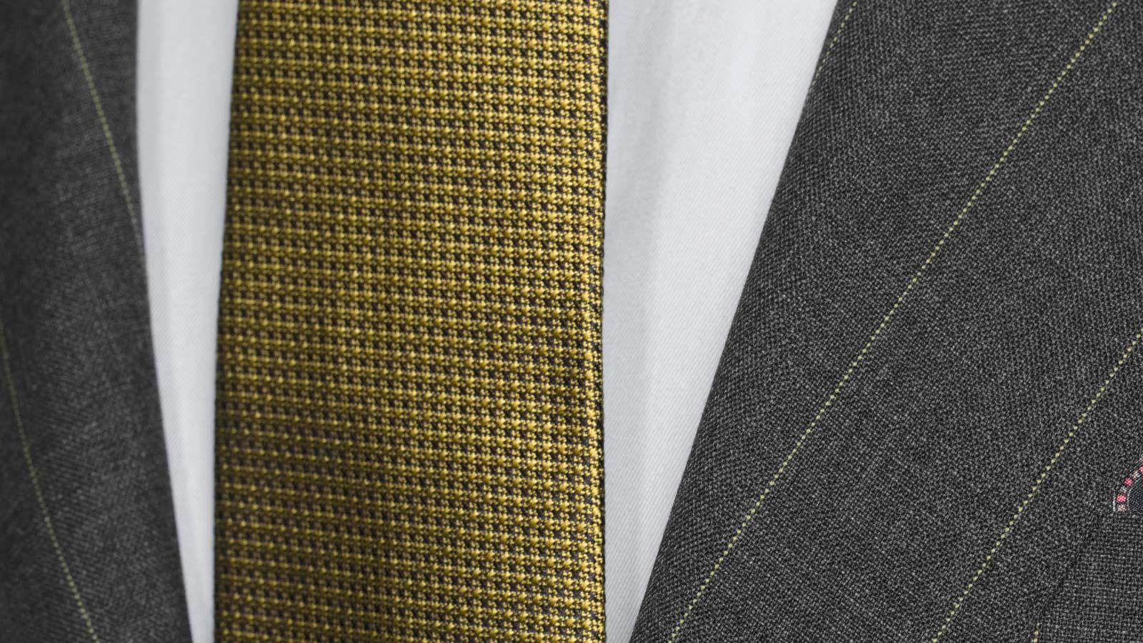 Tropical Rustic Yellow Stripe Grey Suit - slider image 1