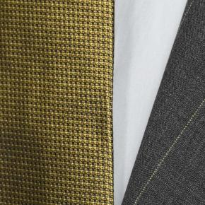 Tropical Rustic Yellow Stripe Grey Suit - thumbnail image 1