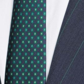 Tropical Rustic Turquoise Stripe Navy Suit - thumbnail image 1