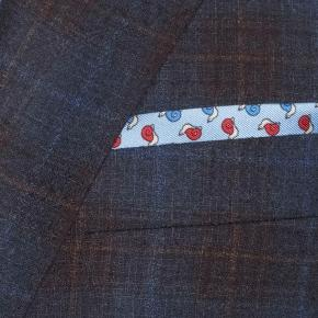 Tangerine & Blue Check Navy Natural Stretch Blazer - thumbnail image 2