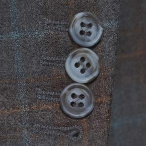 Tangerine & Blue Check Charcoal Natural Stretch Blazer - thumbnail image 2