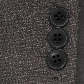 Dark Grey Brown Melange Natural Stretch Suit - thumbnail image 2