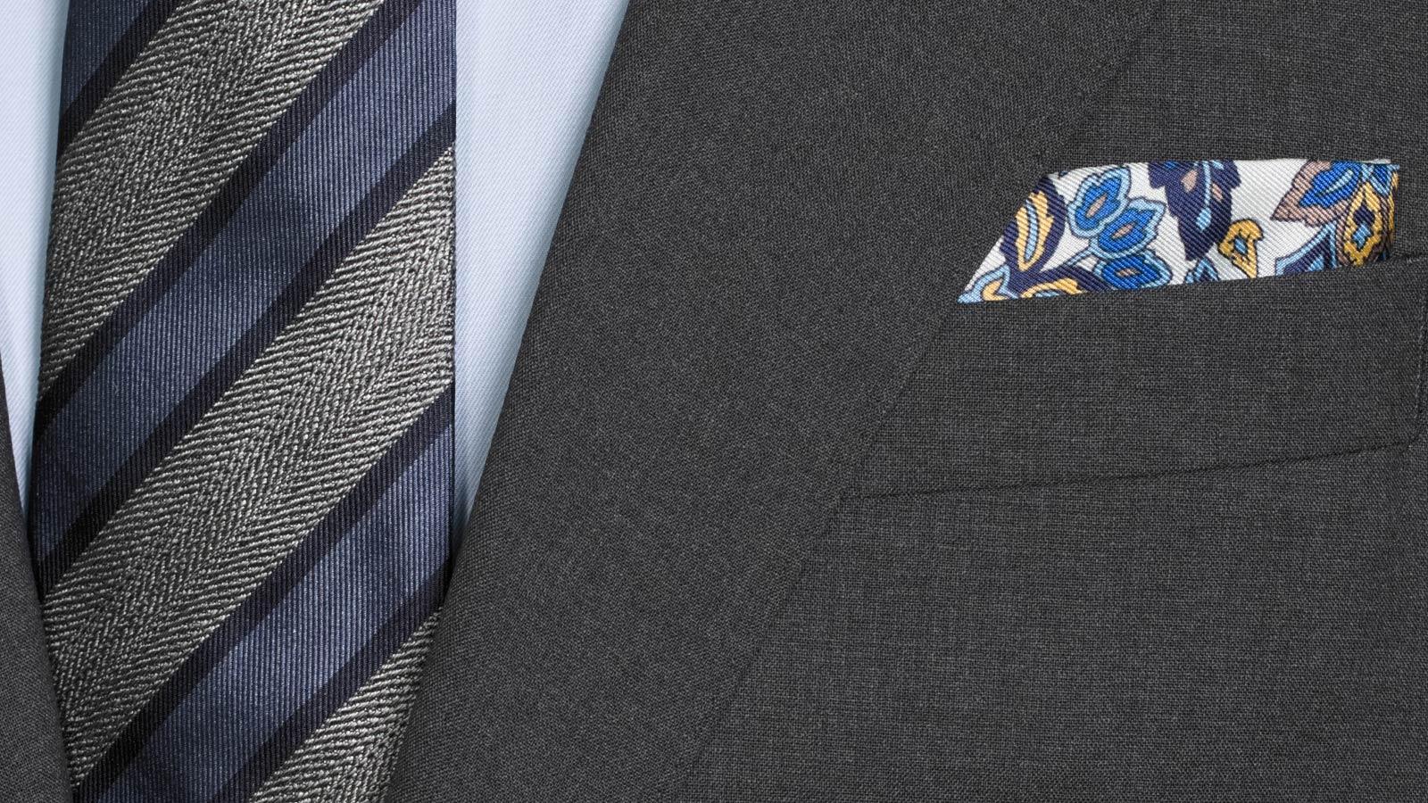 Solid Grey Natural Stretch Suit - slider image 1