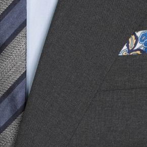 Solid Grey Natural Stretch Suit - thumbnail image 1