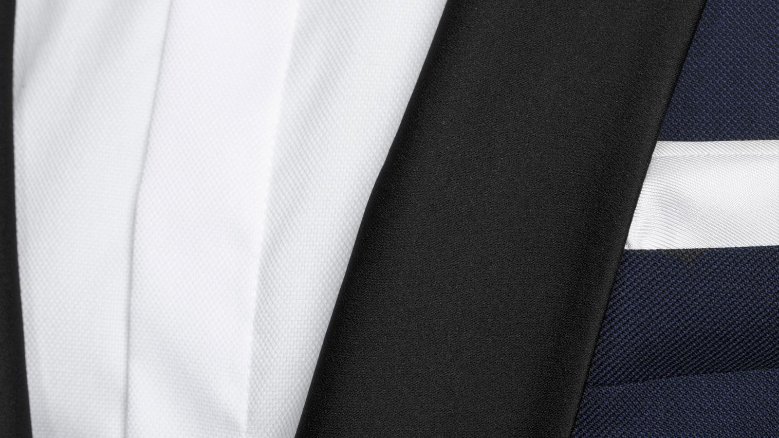 Blue Sharkskin Tuxedo - slider image 1