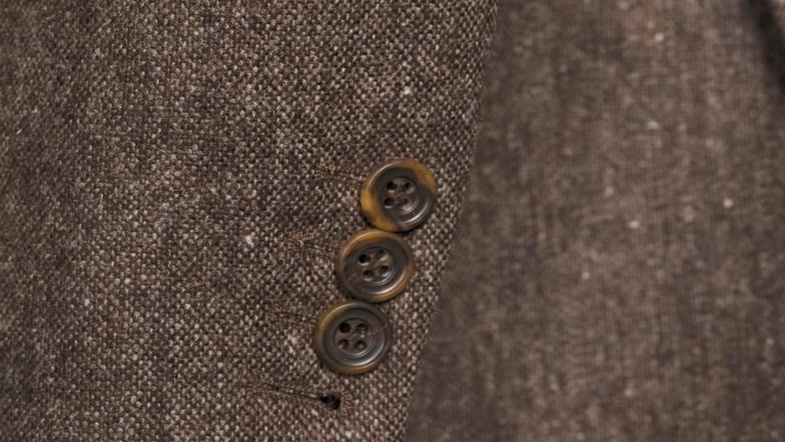 Natural Brown Tweed Blazer - slider image 1