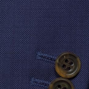 Suit in Intense Blue Pick & Pick Wool - thumbnail image 2