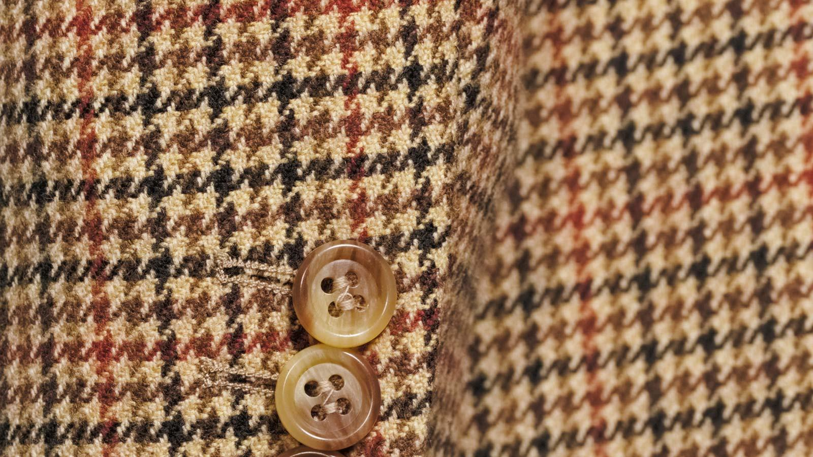 Light Brown Check Wool & Cashmere Suit - slider image 1