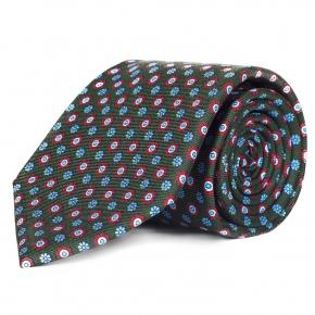 Green Floral 28 Momme Silk Tie - thumbnail image 1