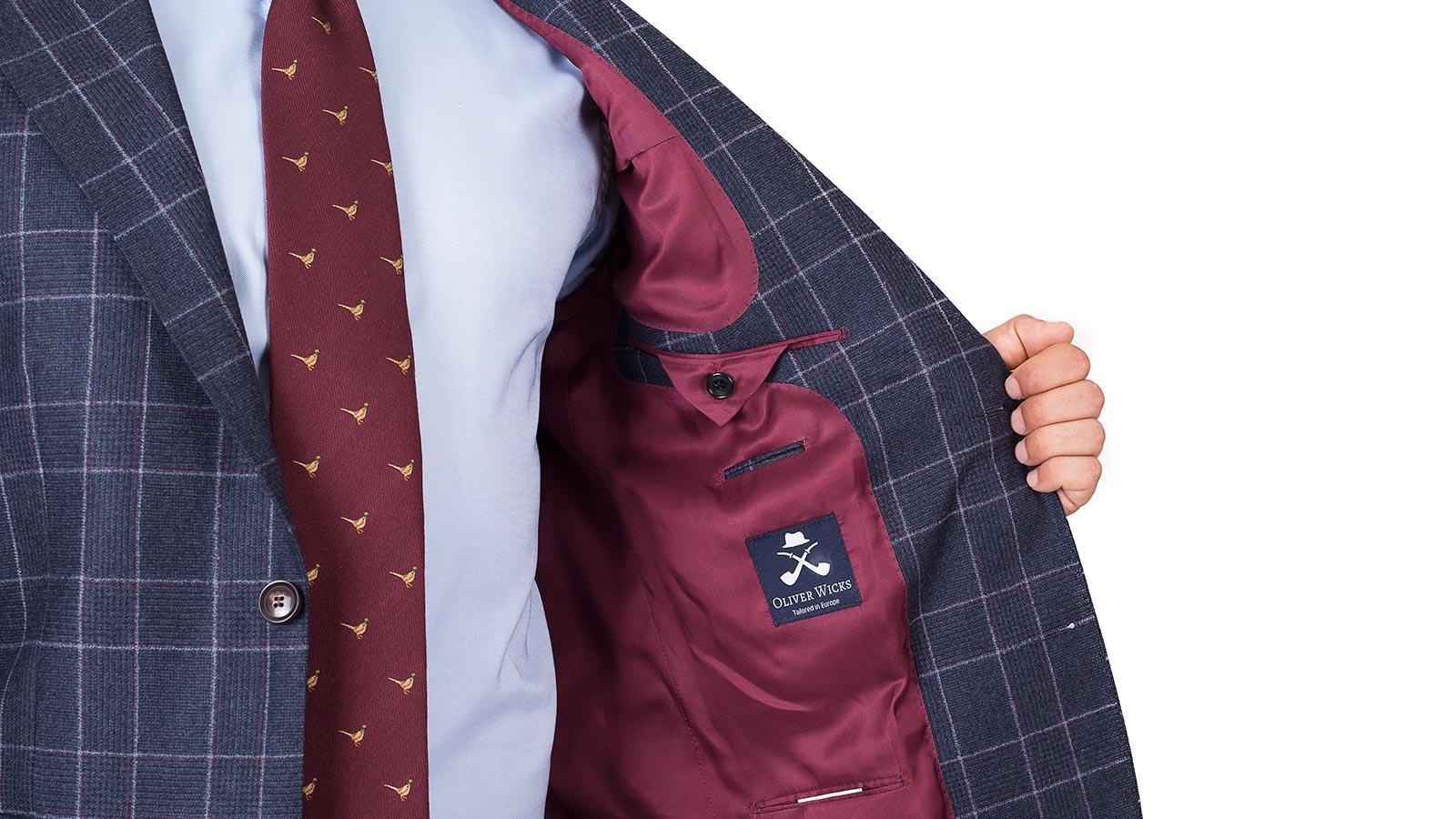 Blue Plaid Wool Flannel Suit - slider image 1