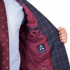 Blue Plaid Wool Flannel Suit - thumbnail image 1