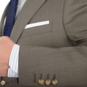 Light Brown Wool & Silk Suit - thumbnail image 1