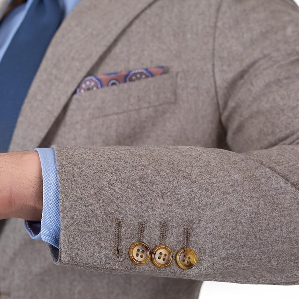 Light Brown Wool Flannel Suit - slider image