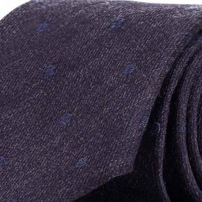 Blue & Sky Blue Dotted Wool Tie - thumbnail image 1