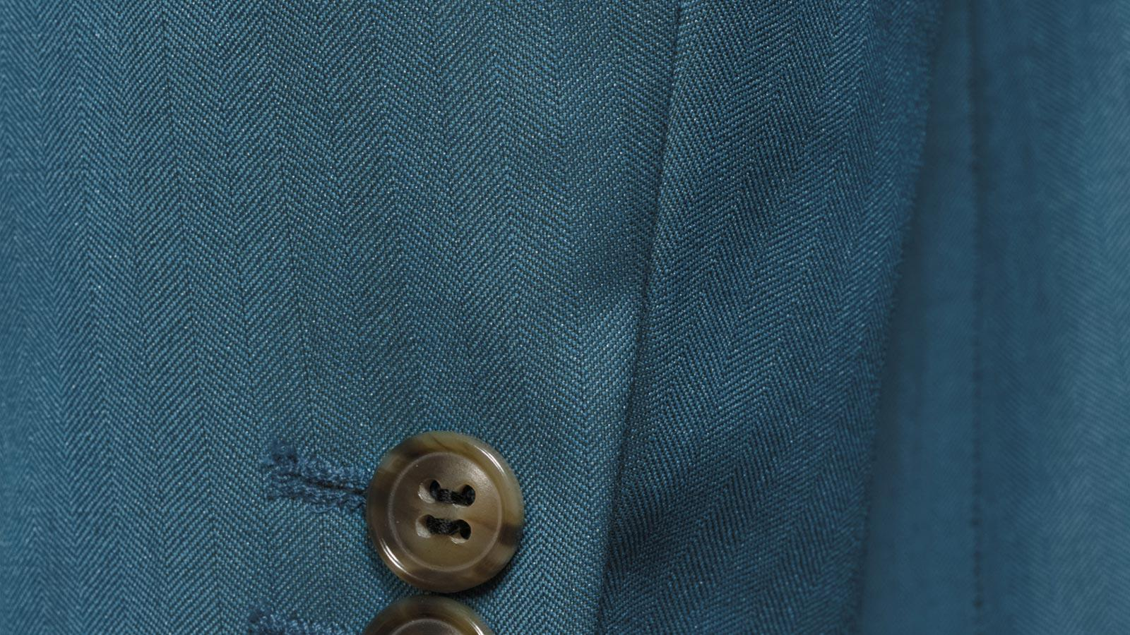 Teal Blue Wool & Silk Suit - slider image 1