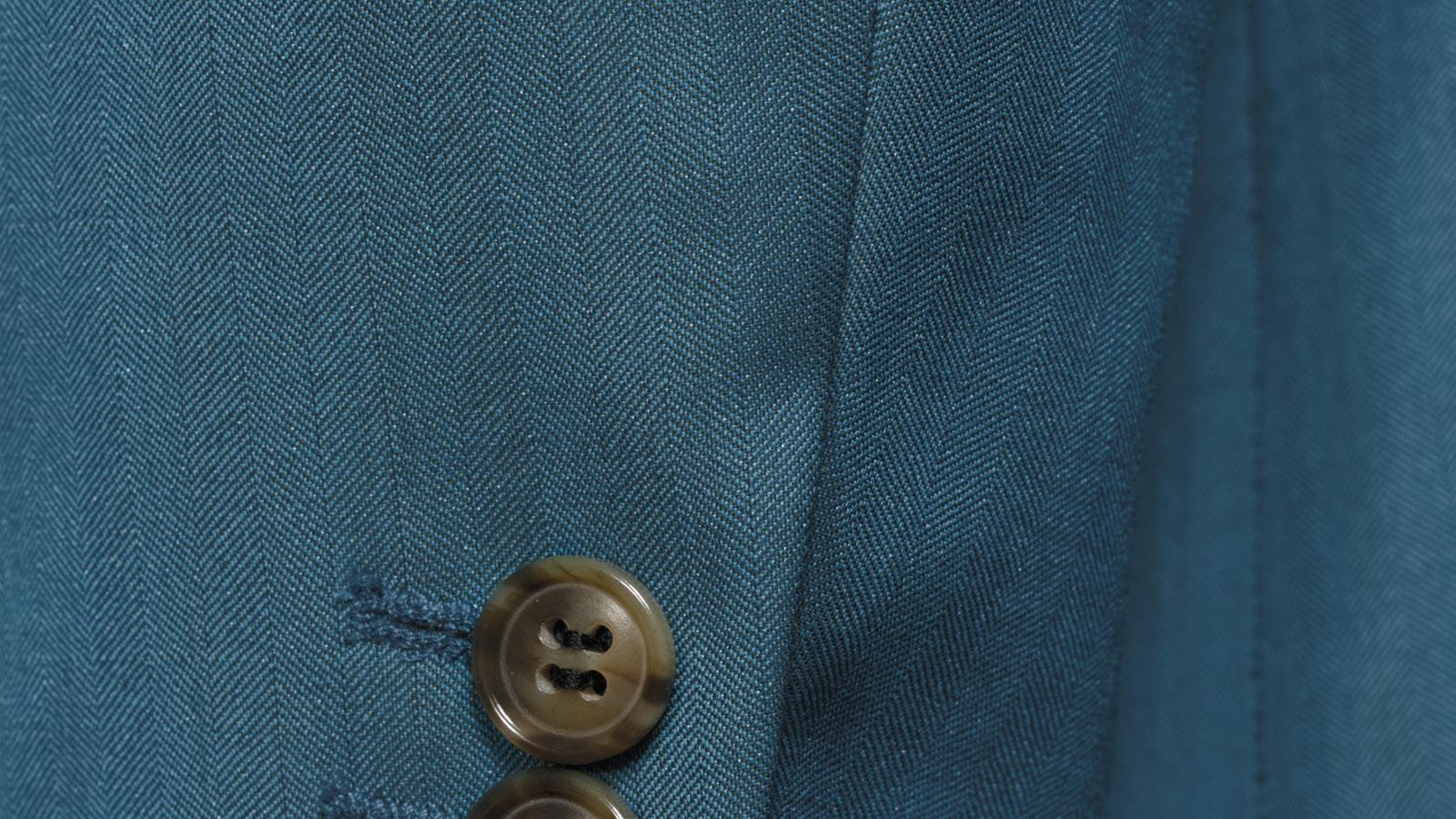 Teal Blue Wool & Silk Suit - slider image 1