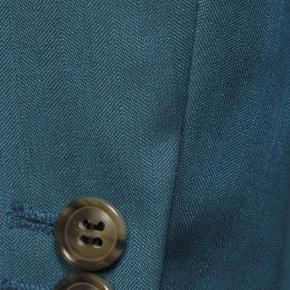 Teal Blue Wool & Silk Suit - thumbnail image 1