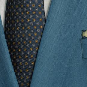 Teal Blue Wool & Silk Suit - thumbnail image 2