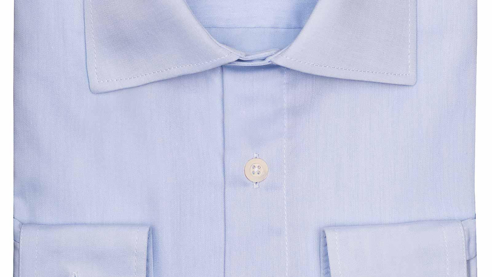 Light Blue Non-iron Cotton Twill Shirt - slider image