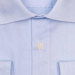 Light Blue Non-iron Cotton Twill Shirt - thumbnail image 1