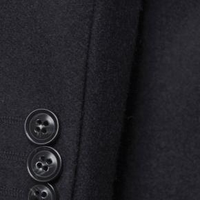 Coat in Solid Charcoal Wool - thumbnail image 2