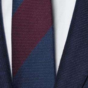 Navy Twill Wool & Cashmere suit - thumbnail image 2