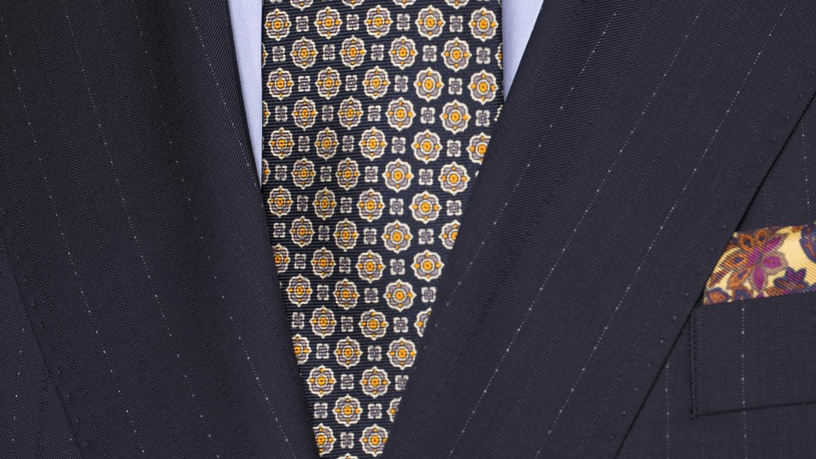 Sartorial Navy Pinstripe 160s Suit - slider image 1