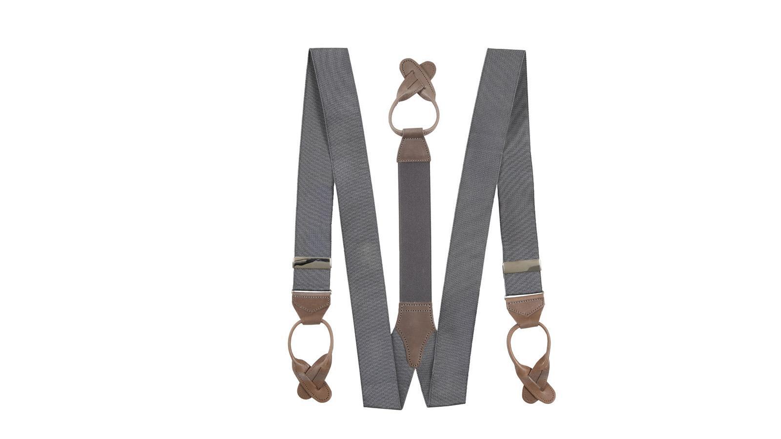 Dark Grey Suspenders - slider image