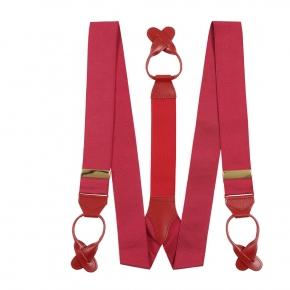 Wine Red Suspenders - thumbnail image 1