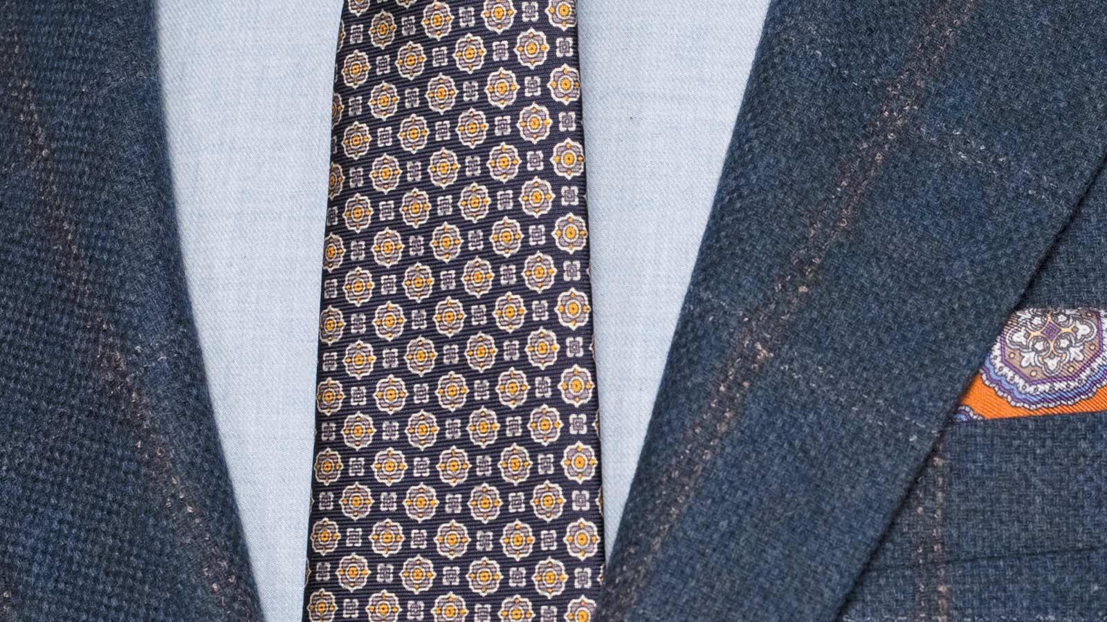 Petrol Blue Check Wool & Cashmere Blazer - slider image 1