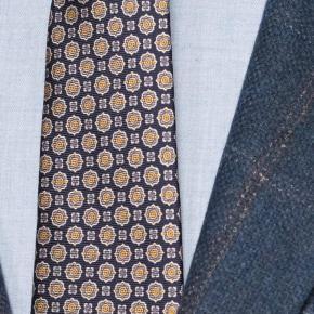 Petrol Blue Check Wool & Cashmere Blazer - thumbnail image 1