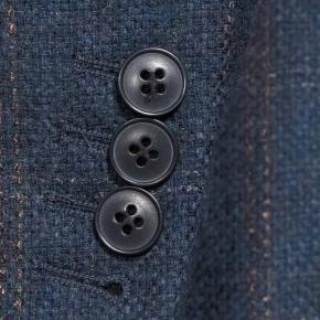 Petrol Blue Check Wool & Cashmere Blazer - thumbnail image 2