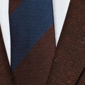 Rich Tobacco Donegal Herringbone Tweed Blazer - thumbnail image 1