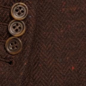 Rich Tobacco Donegal Herringbone Tweed Blazer - thumbnail image 2