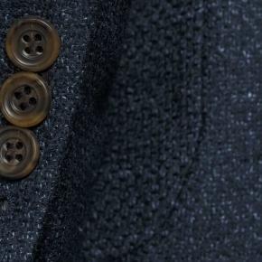 Navy Vintage Hopsack Tweed Blazer - thumbnail image 2