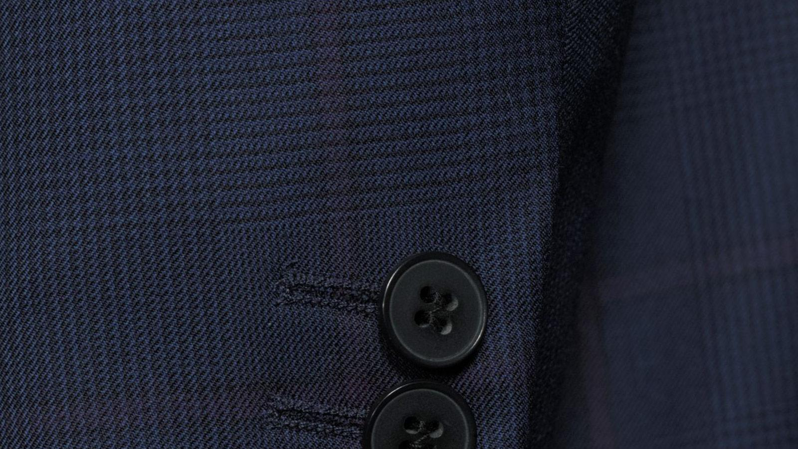 Vendetta Premium Lavender Check Navy Plaid Suit - slider image 1
