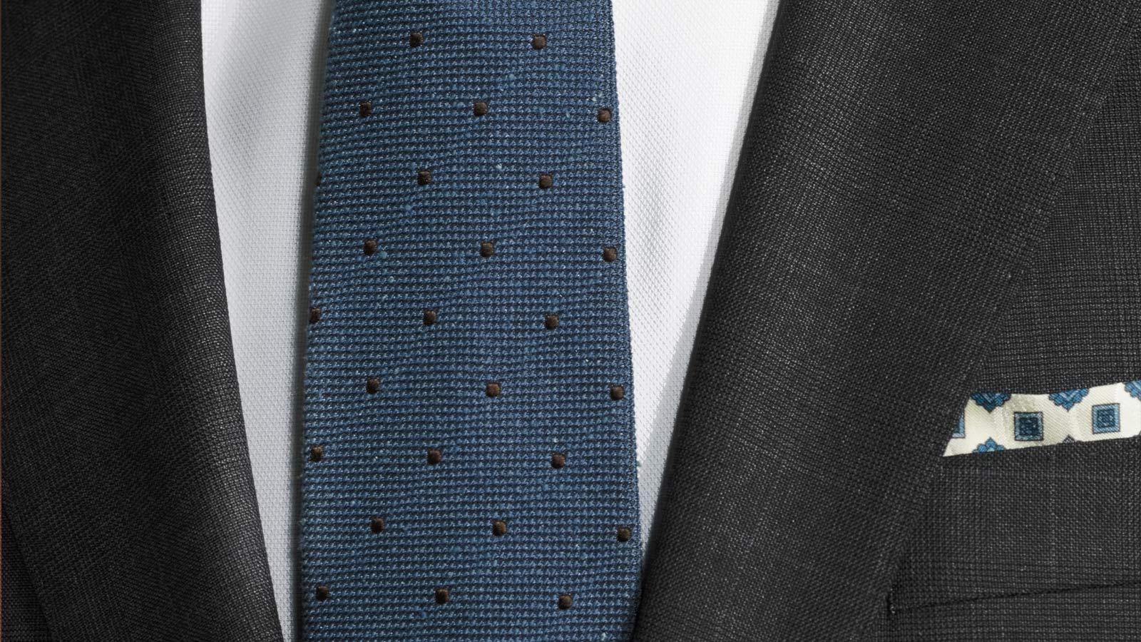 Premium Charcoal Plaid Suit - slider image 1