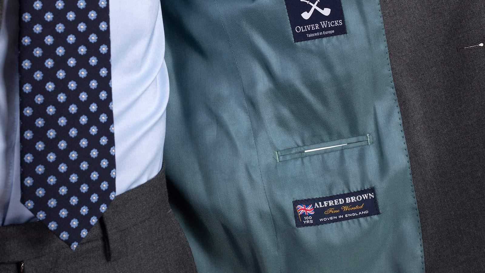 11 oz Grey Twill Suit - slider image 1