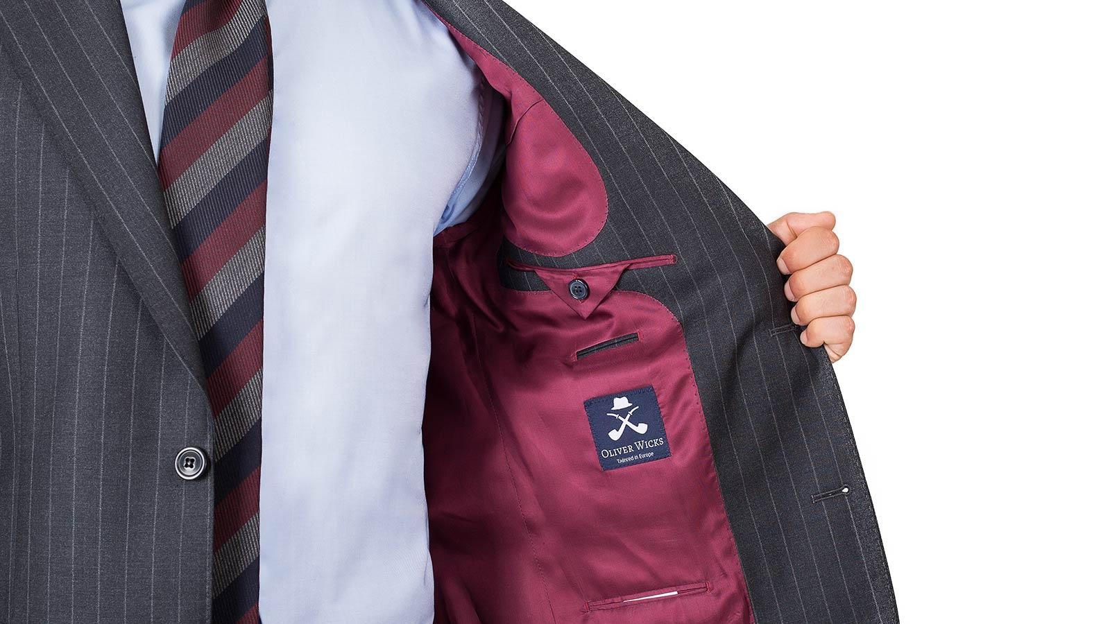 Charcoal Chalkstripe Suit - slider image 1