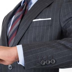 Charcoal Chalkstripe Suit - thumbnail image 2