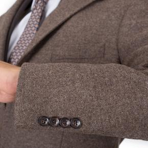 Coat in Brown Wool-Cashmere - thumbnail image 1