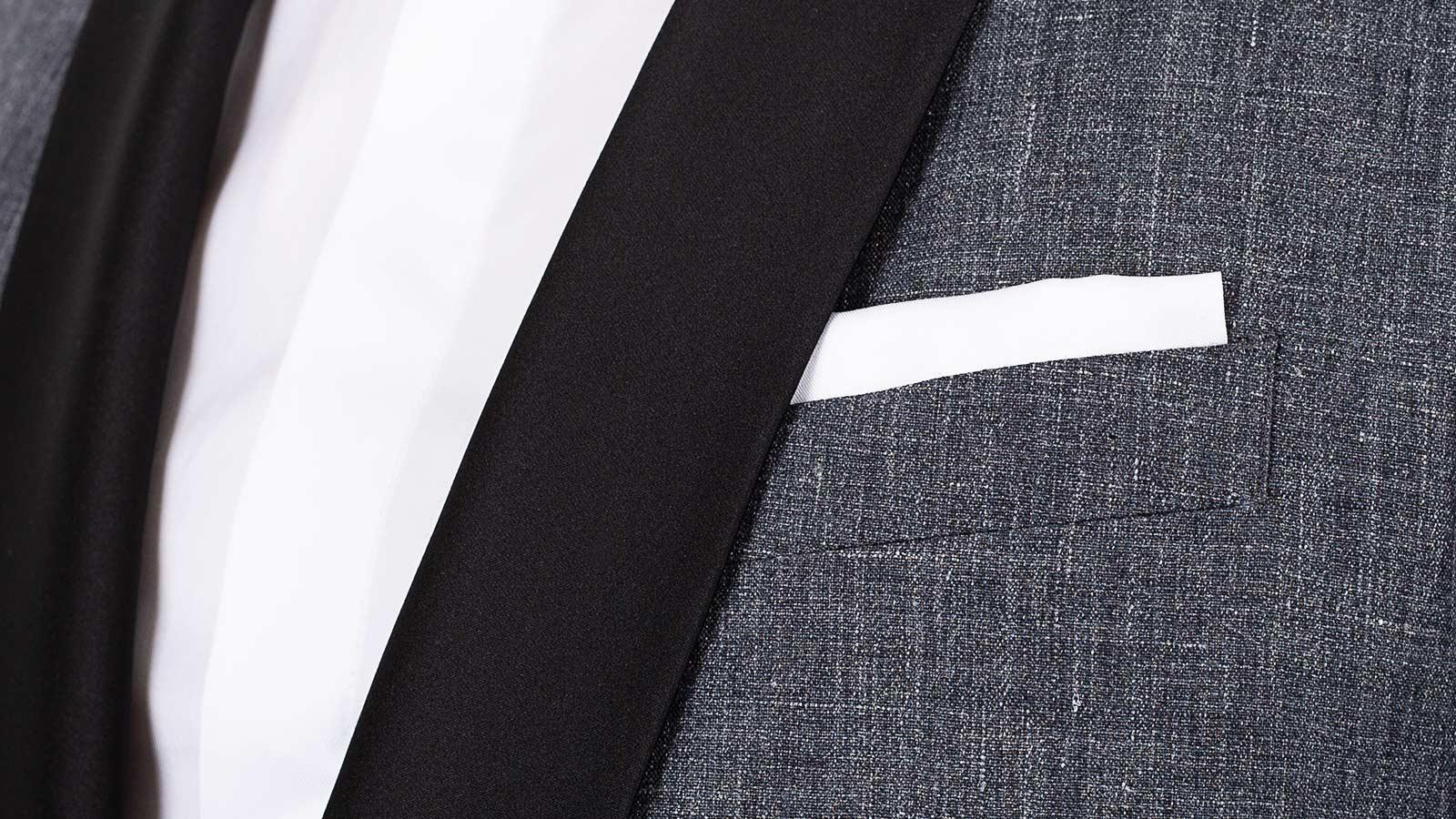 Dark Grey Linen Tuxedo - slider image 1