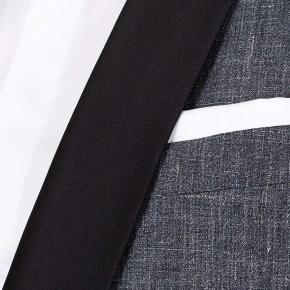 Dark Grey Linen Tuxedo - thumbnail image 1